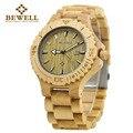 BEWELL мужские часы деревянные часы ручной работы фирменный дизайн Классический Модный повседневный высококачественный стиль легкий портати...