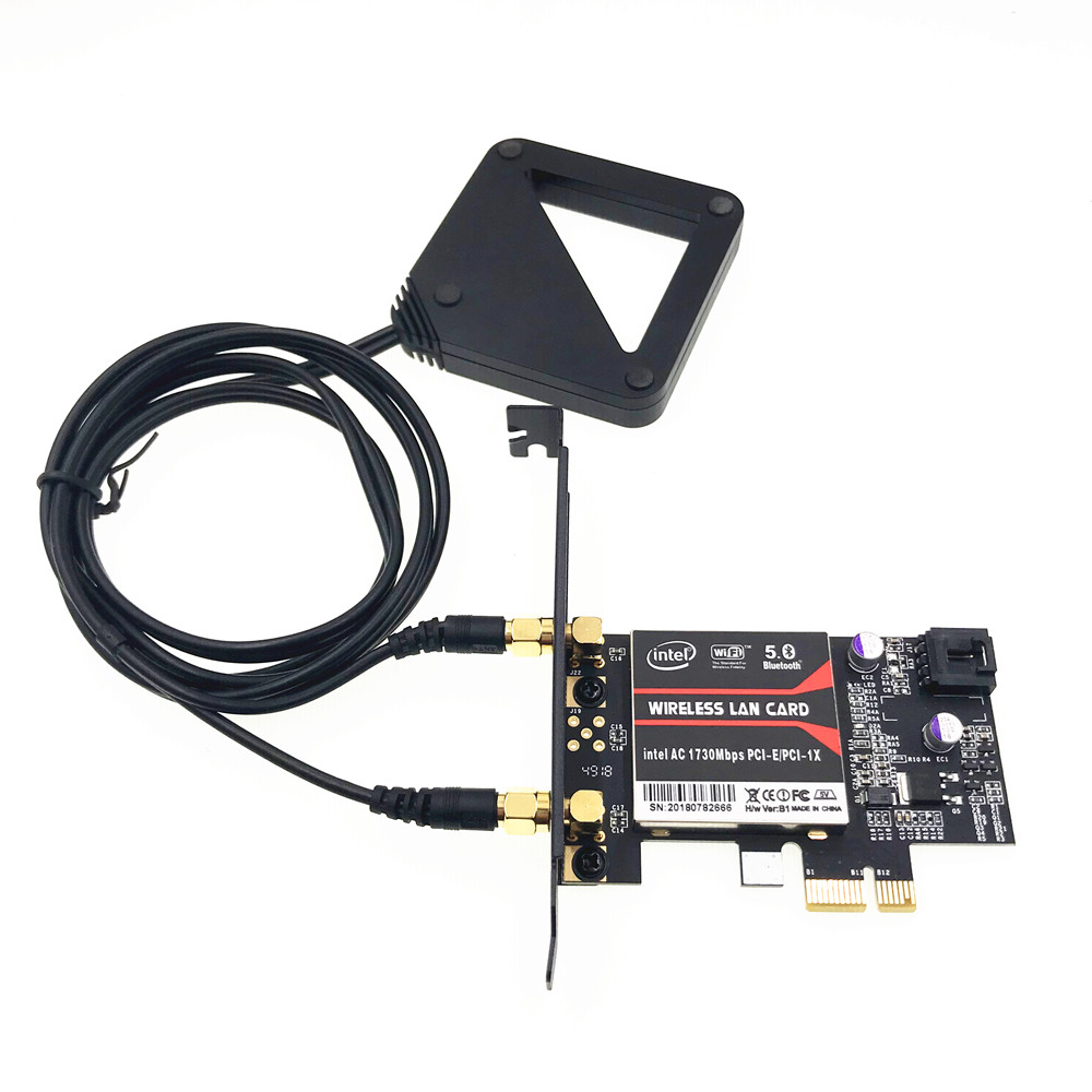 With External Antenna 9260NGW MU-MIMO Bluetooth 5.0 PCI-E PCIe 1x X1 Desktop Card