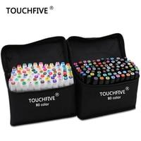 TouchFive Marker 168 Colors Set Alcoholic Oily Based Ink Art Marker Set Best For Manga Dual
