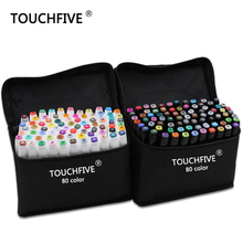 TouchFive Marker 168 Colors/set Alcoholic oily based ink Art Marker Set Best For Manga Dual Headed Art Sketch Markers