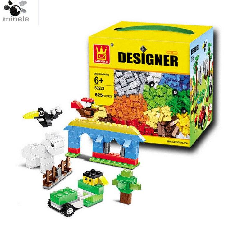 625 Pcs Building Blocks City Diy Creative Bricks Toys For