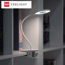 цена на Xiaomi Yeelight LED Desk Lamp Clip-On Night Light USB Rechargeable 5W 360 Degrees Adjustable Dimming Reading Lamp For Bedroom