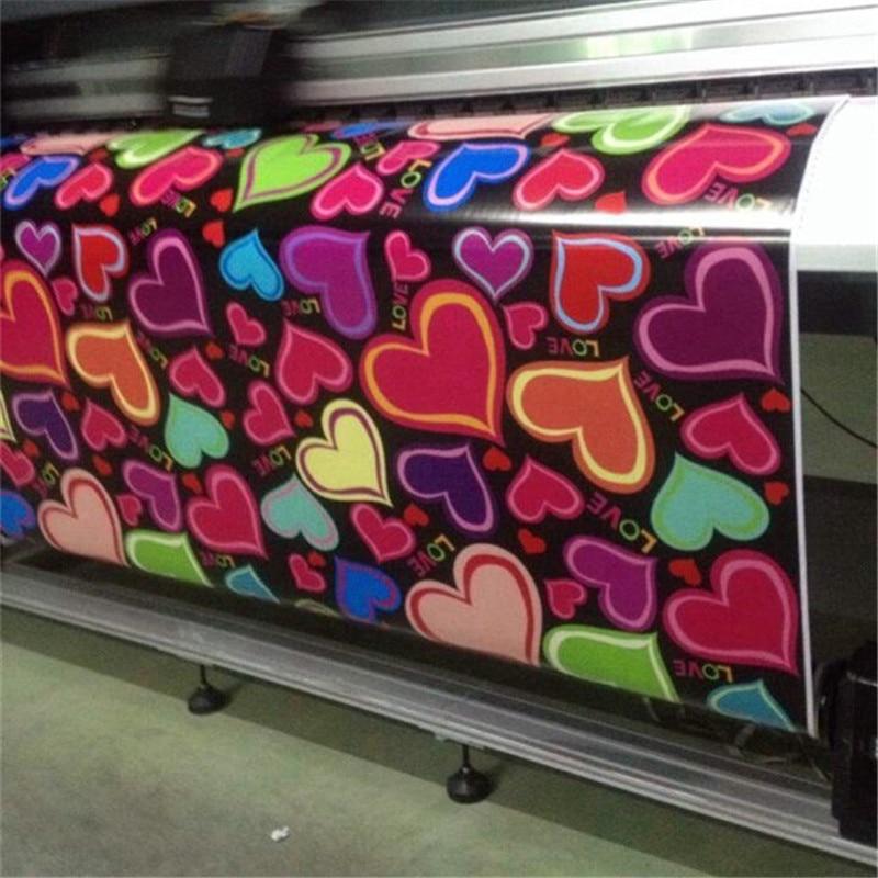 love Vinyl Wrap Graffiti Cartoon heart Printed Decorat ive Adhesive Sticker Film Sheet For Racing Car Motorcycle Bike