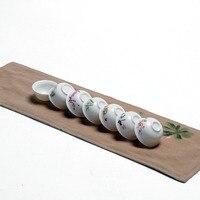 Nowy, 7 sztuk Chiński Kungfu białej porcelany pojedyncze kubki, ceremonia herbaty, herbaty akcesoria/narzędzia, dla czarna herbata, dojrzałe/raw puer, Oolong, cha