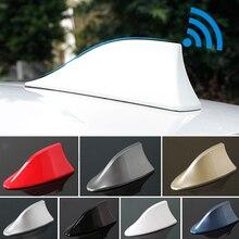 Universal Car Shark Fin Antenna Auto Exterior Roof Shark Aerials Car Auto Radio Signal Antenna FM/AM Signal Protective Aerials
