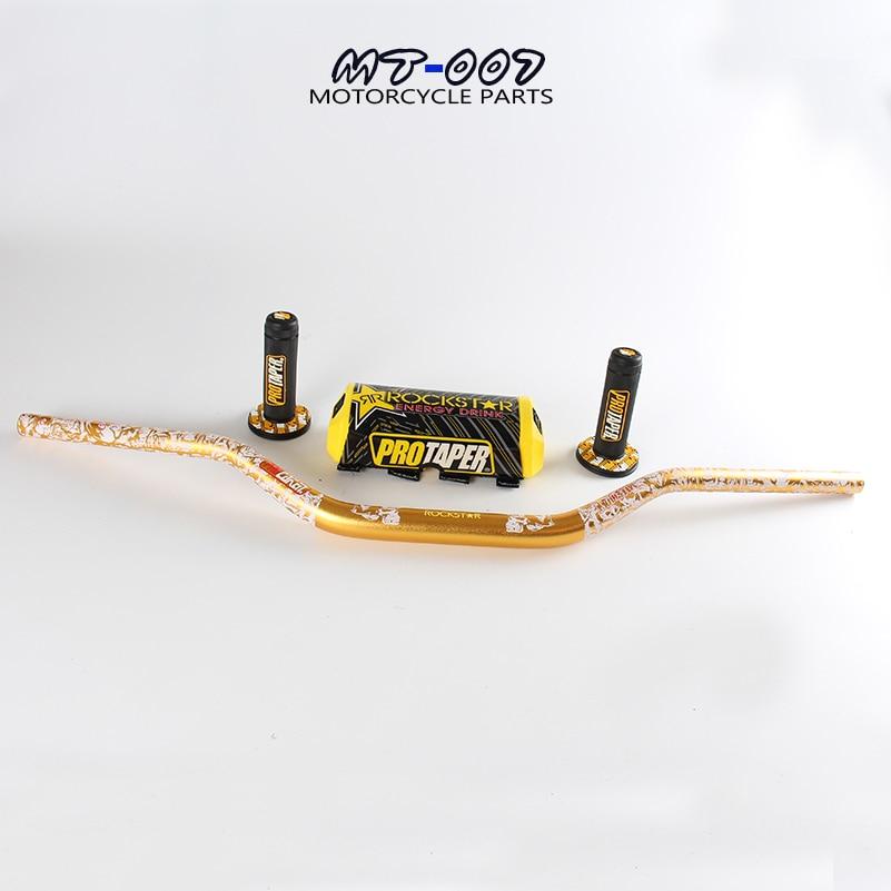 Yellow 28MM MX Handlebar Bar Pad Bar handle Grips For Motorcycle Pit Dirt Bike Motocross Enduro Supermoto
