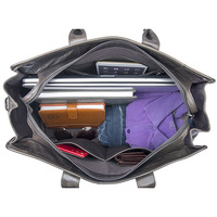 J. м. d Crazy Horse кожа равнодушным Сумки Винтаж Большой ёмкость чемодан сумка практические бизнес сумка для вещей, сумка прямоугольной формы сер