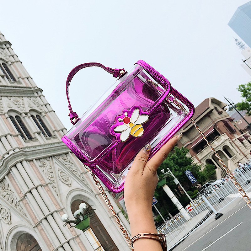 new package women's Korean version of fashion single bag slant bag transparent small package two packages mother bag