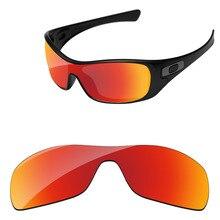 Поликарбонат-огненный красный зеркальные Сменные линзы для солнцезащитных очков Antix Frame UVA и UVB Защита