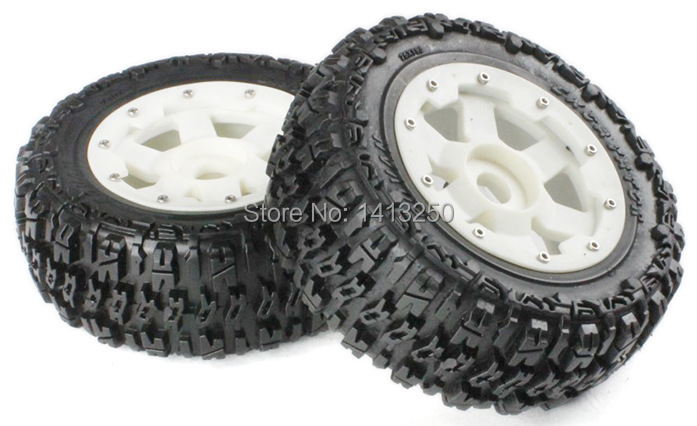 5T Rear knobby wheel set with nylon super star wheel for baja parts,free shipping 5t knobby wheel set for 1 5 hpi baja 5t