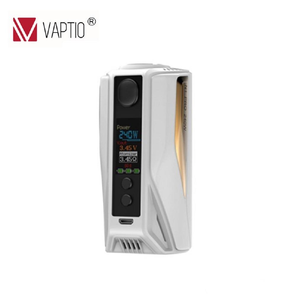 Original Vaptio N1 Pro 240 W LITE MOD vape CAIXA Mod Cigarro Eletrônico TC Tela OLED Suporte 18650 Bateria Não tampa da bateria