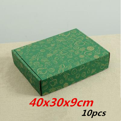 40x30x9cm 10pcs Fruit Prints Green Corrugated Kraft Wrapping Paper/ Five  Printing Money Kraft Paper,
