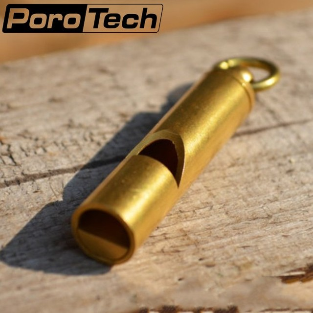 POTOTECH Vintage Brass Whistle Loud Wilderness Outdoor Rescue Survival Whistle Personal Protection Tool Self Defense Supplies