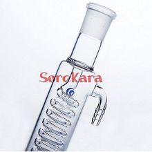 200 мм конденсатор Грэм с спиральной внутренней трубкой 24 мм Стандартный заземляющий рот использовать d для дистилляции блок лабораторного использования