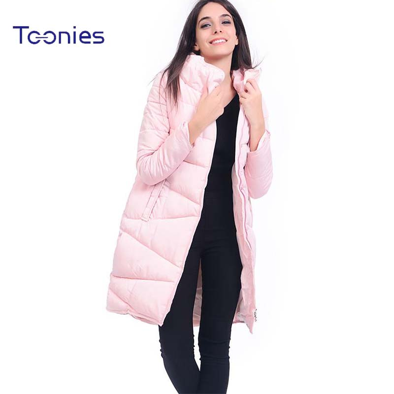 Women Solid Warm Thicken Winter Parka Cotton-padded Jacket Female Long Turtleneck Coats Slim Fintness All-match Plus Size Casco