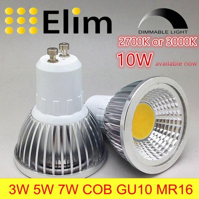 lampe spot led ampoule led gu10 cob dimmable mr16 2700 k 3000 k chaud blanc 3 w 5 w 7 w 10 w. Black Bedroom Furniture Sets. Home Design Ideas