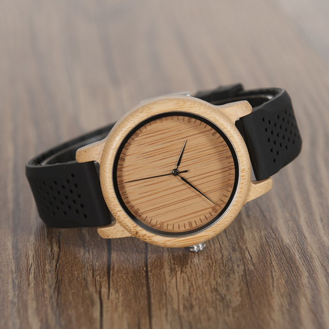 BOBO BIRD Women Watches Ladies' Luxury Bamboo Wood Timepieces Silicone Straps relojes mujer marca de lujo Great Gifts for Girls 5