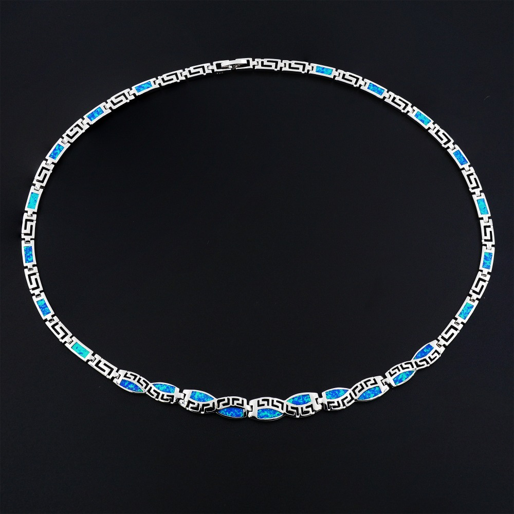 Blue Fire Opal Choker Necklace For Women Christmas Gift