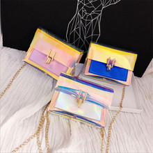 29b374ae32 Women Laser Crossbody Bag Messenger Shoulder Bag PVC Jelly Small Tote Messenger  Bags Laser Holographic Lady
