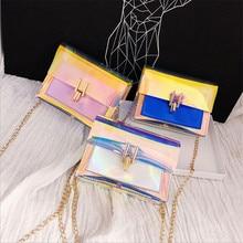 Women Laser Crossbody Bag Messenger Shoulder Bag PVC Jelly S