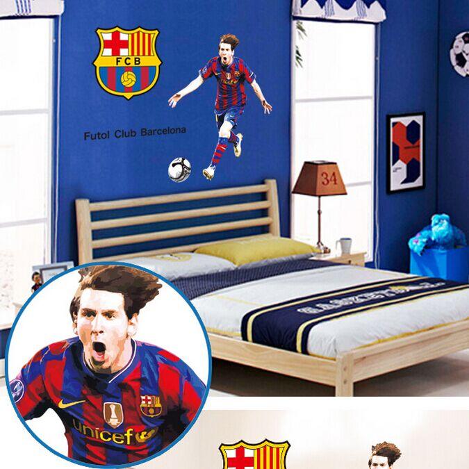 3d la decoraci n del hogar moda 2014 de dibujos animados de la aptitud de f tbol decoraci n - Habitaciones infantiles barcelona ...