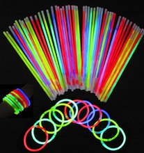 100pcs Multi Color ritium glow in dark party lights brancelets font b glowsticks b font wedding