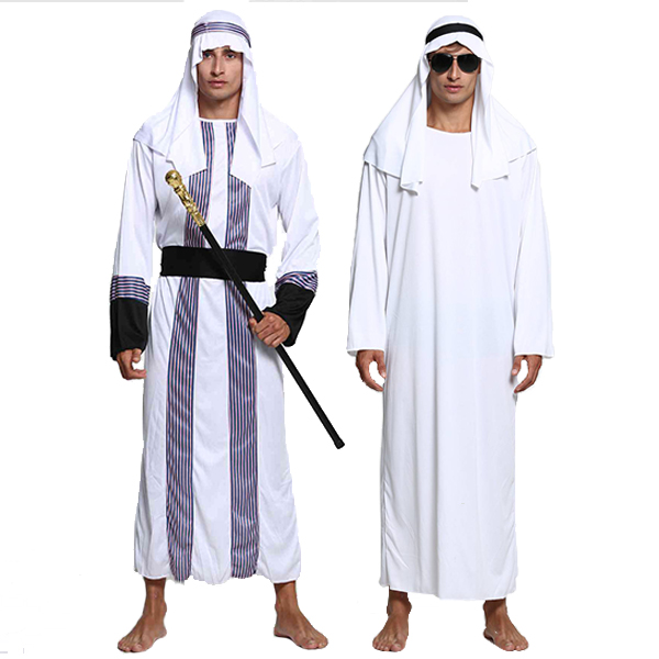 Adult Halloween Costume Muslim Party Clothing Adult Male Arab Apparel Saudi Middle East Dubai Robes B-5159