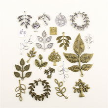 Fashion Jewelry Making Plant Leaves Branches Findings Components Mix Pendant