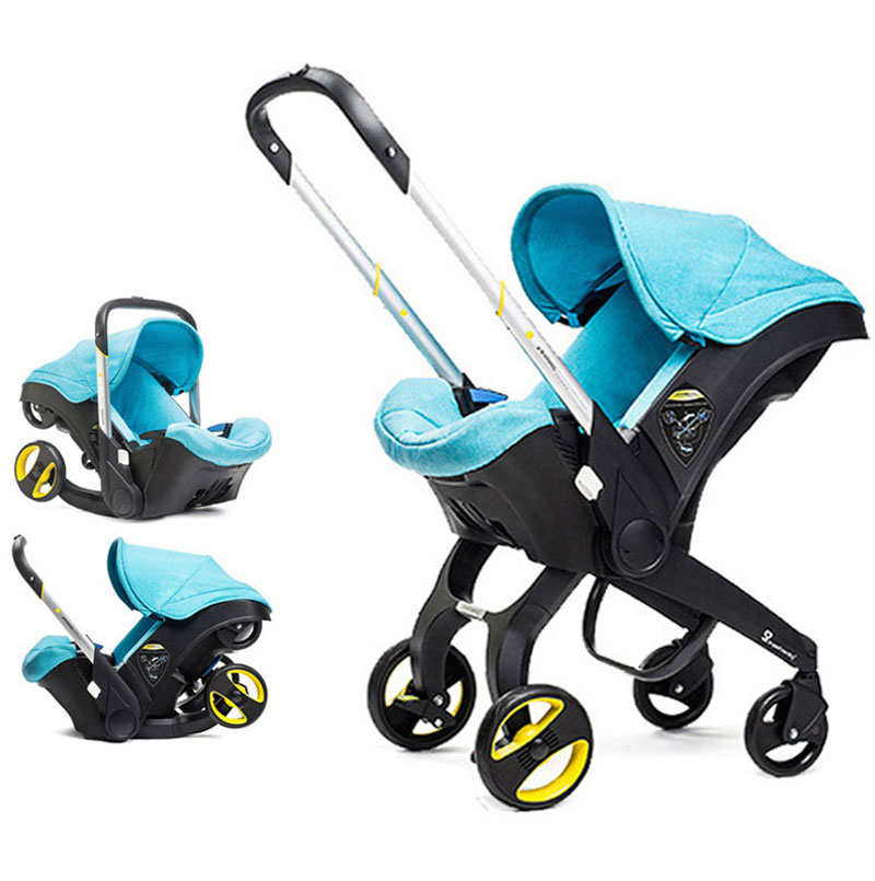 4 In 1 Car Seat Stroller Newborn Baby Carriage Bassinet Wagen Portable Travel System with Comfort-in Mutiple from