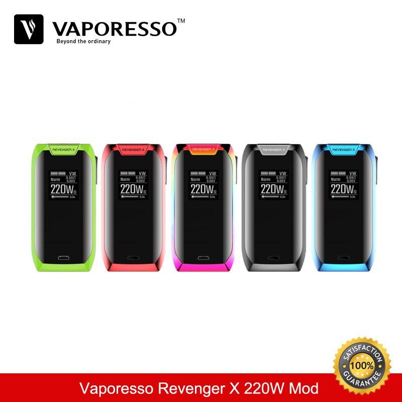 Cigarette électronique D'origine Vaporesso Vengeur X 220 w TC Boîte Mod Vaporisateur 18650 Vaporisateur Mod VS Vgod Voopoo E- cigarettes Vapeur
