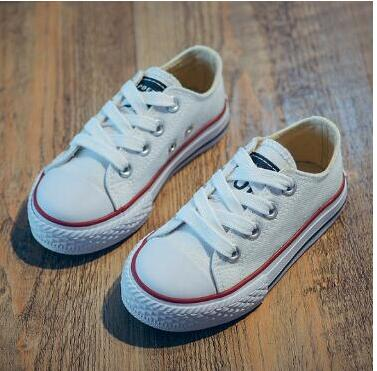 Hot Sale Children Canvas Shoes Boys Girls Sneakers Spring Autumn Brand Girls Shoes White Short Solid Fashion Children Shoes