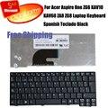 100% brand new teclado espanhol para acer aspire one kav10 kav60 za8 zg6 zg8 laptop teclado espanhol teclado preto