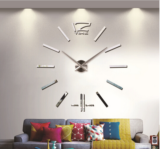 Big Size Luxury DIY 3D Wall Clock Digital Modern Mirror Sticker Best Gifts Home Decoration - Hairmore store