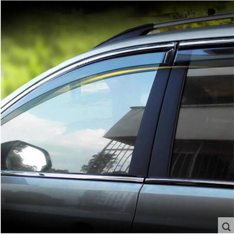For Chevrolet Captiva 2010-2012 2013-2015 2016 Window Visor Vent Shades Sun Rain Deflector Guard Awnings Car Styling Accessories car door window rain sun guards visor weathershields vent trims for mazda cx 5 cx5 2012 2013 2013 2014 2015