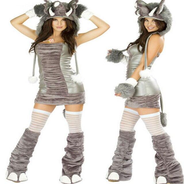 00ae5c2d809d € 26.83 10% de DESCUENTO 2018 nueva cosplay alto grado travieso elefante  carnaval trajes de halloween para las mujeres Sexy Bodycon vestidos traje  ...
