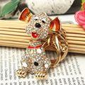 Прекрасная Собака Милый Песик Очаровательный Bling Кулон Горный Хрусталь Кристалл Брелок Брелок Для ключа Автомобиля цепи женщин