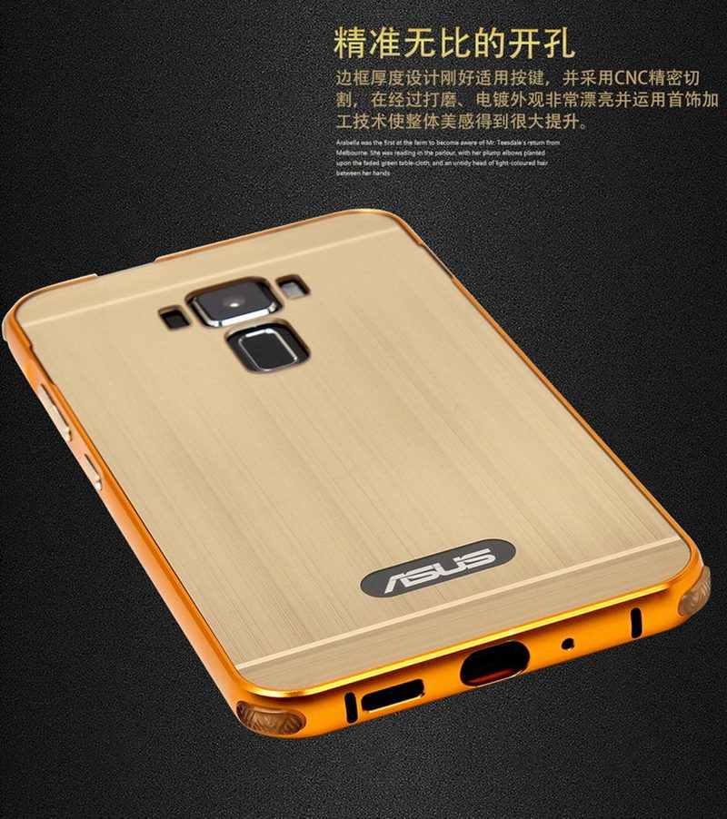 حافظة من TUKE لأجهزة Asus Zenfone 3 ZE 520KL مقاس 5.2 بوصات إطار من معدن الألمنيوم المقاوم للخبط غطاء خلفي ناعم للكمبيوتر Zenfone 3 ZE520KL