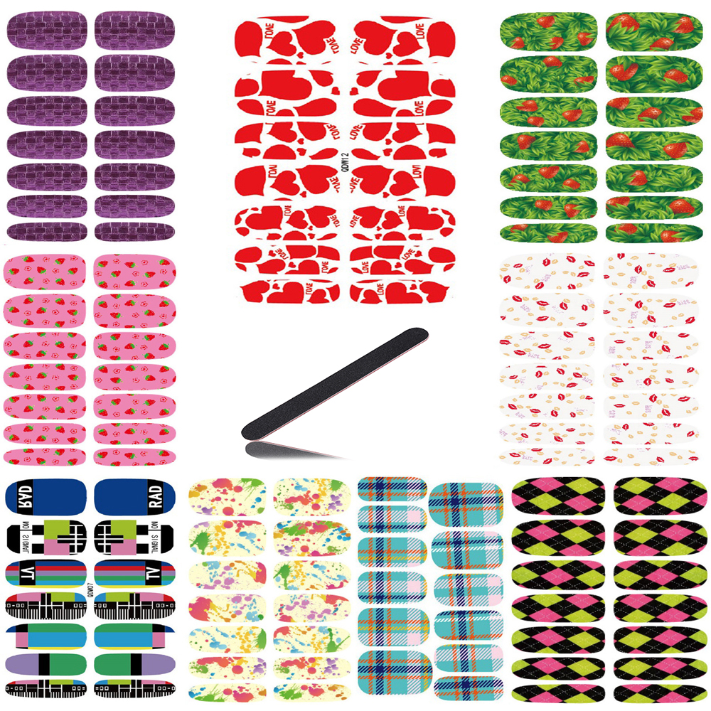 10pcs Set New Fashion Water Transfer Nails Art Sticker Fashion Deed Red Love Hearts Decor Decals Wraps Foil Stickers for Nail 2