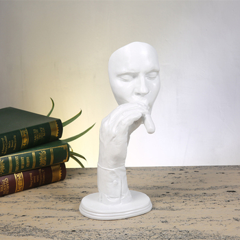 Smoking a cigar Portrait of Sculpture Creative Home Decorative Resin Figurines Not Hear/talk/see Study Room Decor Accessories фото
