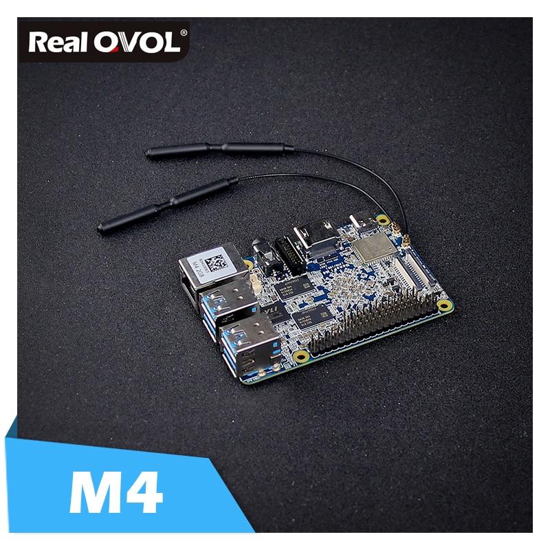 US $79 98 |RealQvol FriendlyARM NanoPi M4 2GB/4GB DDR3 Rockchip RK3399 SoC  2 4G & 5G dual band WiFi+Bluetooth 4 1 supports Ubuntu Android-in Demo