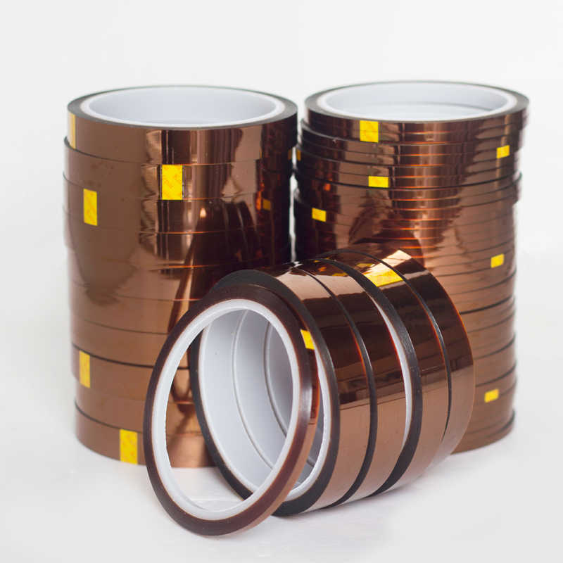 Высокое качество 5 мм термостойкая лента Высокая температура Полиимид 100 футов односторонние клейкие рулоны