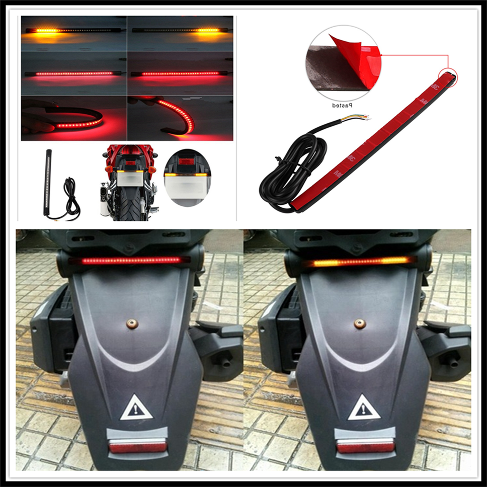 Motorcycle LED Tail Lamp Plate Light Brake Stop Turn Signal Strip For Moto GUZZI AUDACE BREVA KTM 250XC 250XC-F 250XCF-W