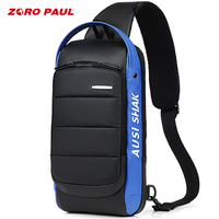 ZORO PAUL Casual Shoulder Crossbody bags for Men Large Capacity Man Travel Chest Bag Pack Anti Theft Messenger Bag Men