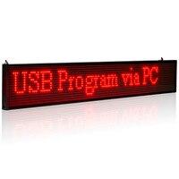 34 cm SMD P5MM LED Display Programmeerbare Scrolling Bericht led sign Board Multi-kleur Optioneel geel blauw groen wit dezelfde Prijs