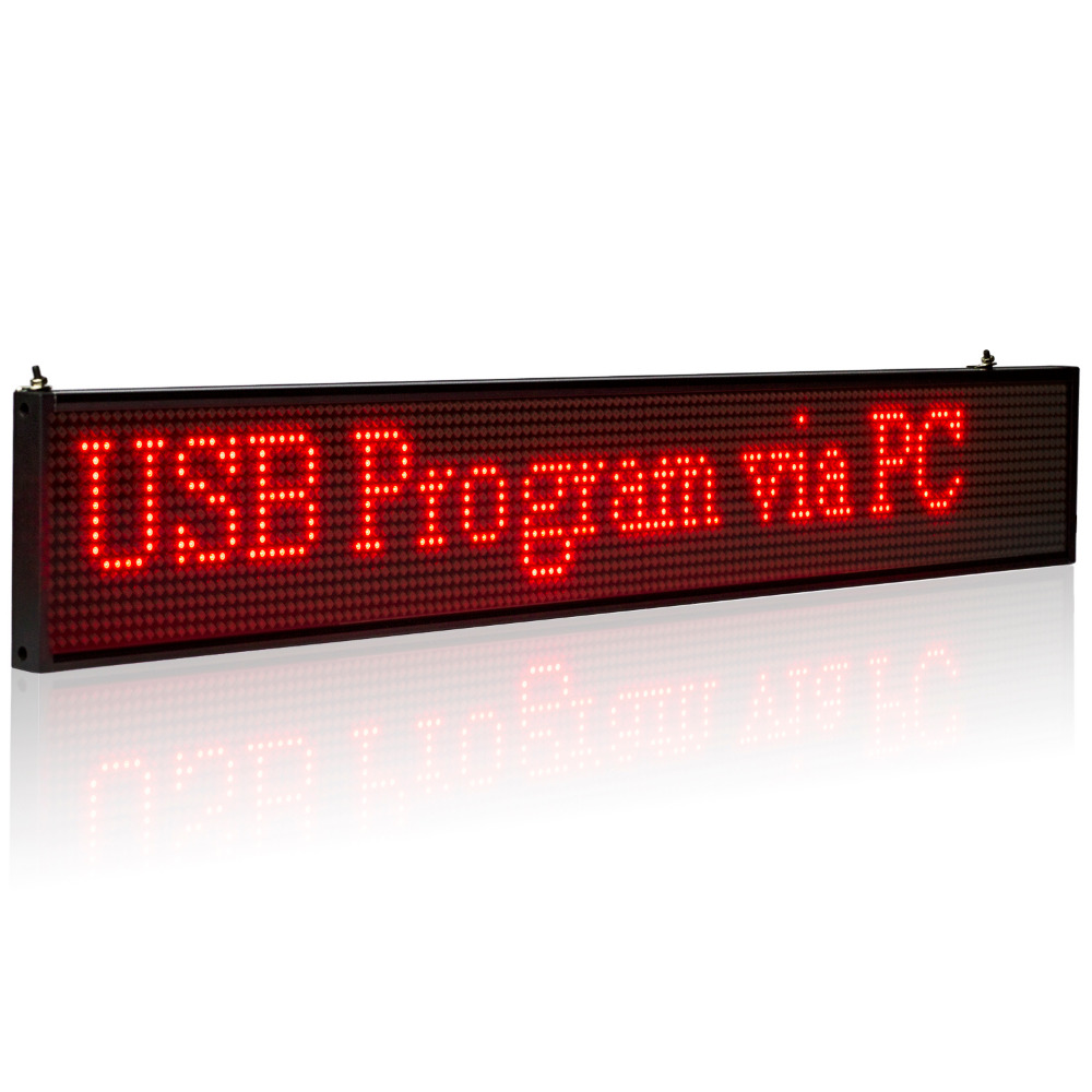 34CM SMD P5MM LED Display Programmable Scrolling Message Led Sign Board Multi-color Optional Yellow Blue Green White Same Price