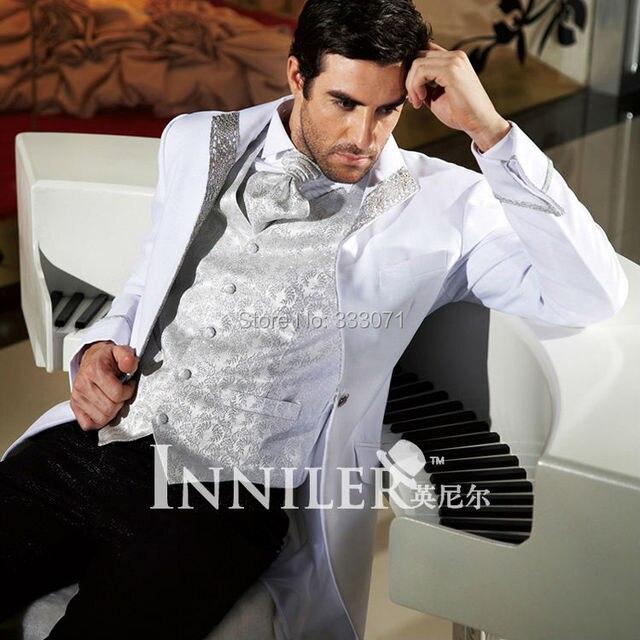 Custom white Men\'s Tailcoat Groom Wedding Tuxedos For Men Morning ...