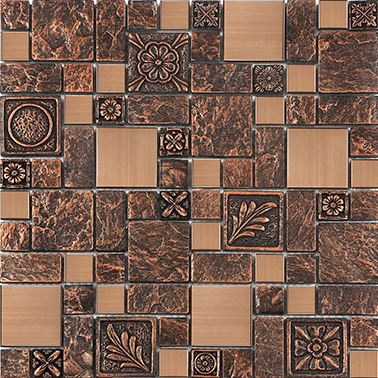 Copper brown resin sticker Fireplace kitchen backsplash wall tiles,Vintage drawbench metal mosaic meshback home wallpaper,LSRN03 home improvement marble stone mosaic tiles natural jade style kitchen backsplash art wall floor decor free shipping lsmb101