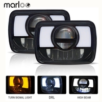Marloo 5X7 7X6 Led Hi Lo Sealed Beam Headlamp With DRL Amber Turn Signal Replace Hid