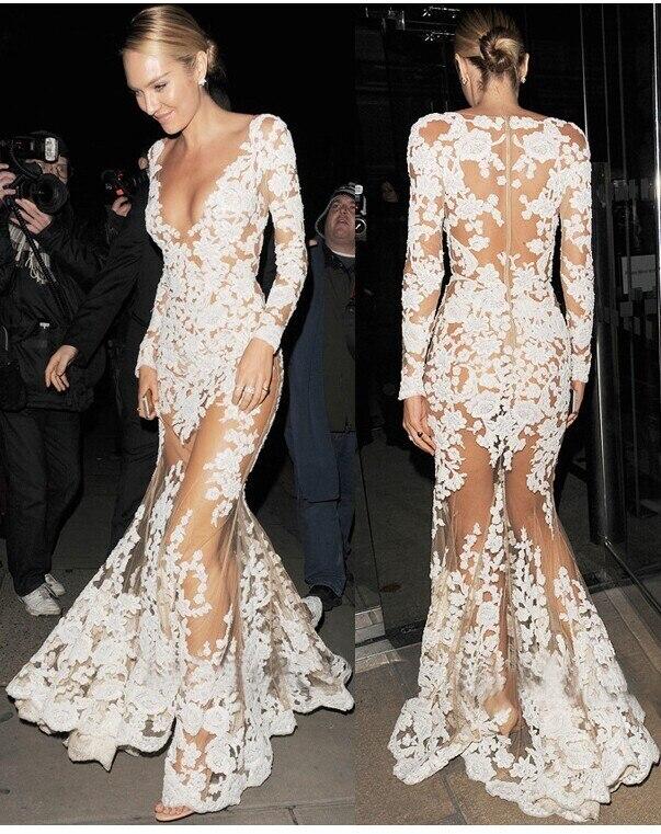 Вечернее платье из сетки и кружева