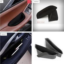 Lapetus Accessories Fit For Infiniti QX30 2017 2018 2019 Inner Side Front Door Handle Armrests Storage Box Tray Holder Cover Kit